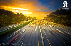 Into the sunset, after work on the 101 Freeway! ( In 2 Making Images | L.A.) Tags: longexposure blue sunset love eos la losangeles los universalcity destination digitalphotography trafficmotion freeway101 sunsetphotography trafficlighttrails amazingbluesky skycreative angelesi canonrebelt2i albertvalles photographycaliforniadiscover placeamazing