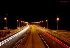 Lights (Pablo  Ronald) Tags: espaa luz car night lights luces noche spain nightshot carretera huelva trafic ayamonte colorphotoaward pabloronald