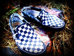 Shoes (BlackAndBlueBeauty) Tags: grass shoes montana butte vans checkers