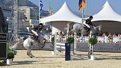 Jumping Monaco 2011 04 (Youureck) Tags: panorama horse canon cheval jumping competition montecarlo monaco international stitched champions saut kyter