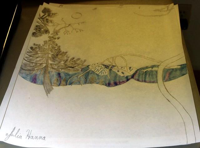 Forest Sunset Sketch Part 4