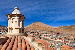 Bolivia-100602-258 (Kelly Cheng) Tags: travel roof mountain color colour building heritage tourism church southamerica motif sunshine horizontal architecture clouds landscape design daylight colorful day pattern cloudy outdoor religion colonial culture vivid sunny bolivia bluesky nobody nopeople christian unesco monastery getty christianity colourful copyspace convent potosi traveldestinations conventofsanfrancisco pickbykc