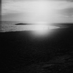 (ari@098) Tags: light sea tlr monochrome photoshop square okinawa 75 80mm 66 selfdevelopment ricohflex 400tmy 400tmy2 newdia