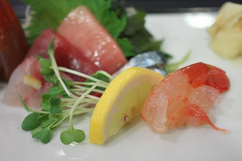 Sashimi Platter (Amaebi, Isaki, Maguro, Aji, Toro)