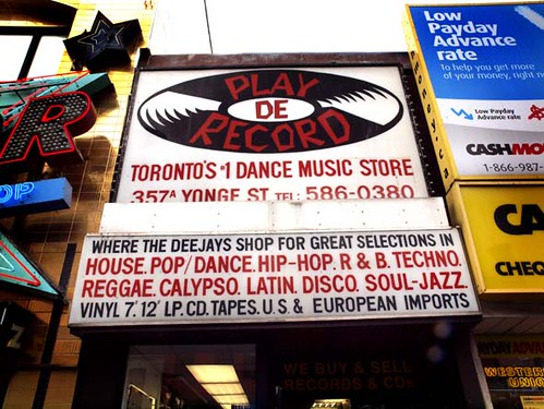 """COOL V TV INVADES CANADA'S DOPEST AND MOST RESPECTED RECORD STORE & 1# MUSIC & EQUIPMENT DISTRIBUTOR """"PLAY-DE-RECORDS"""" EXTRA BIG SHOUT TO EUGENE TAM (OWNER) *THANKS!*"""