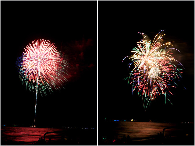 July 4th fireworks diptych 18
