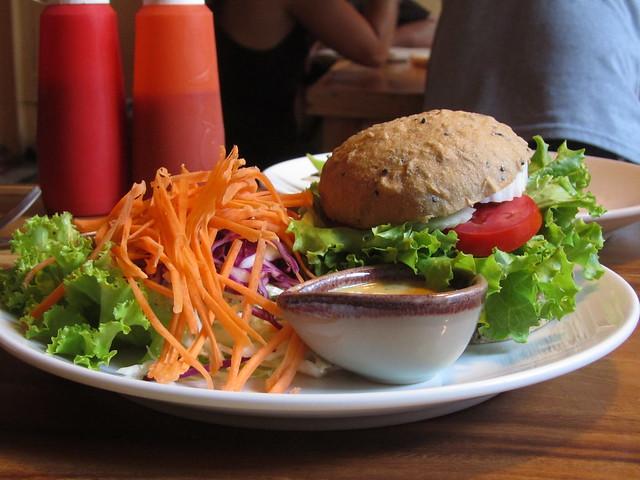 Tempeh Veggie Burger at Ethos