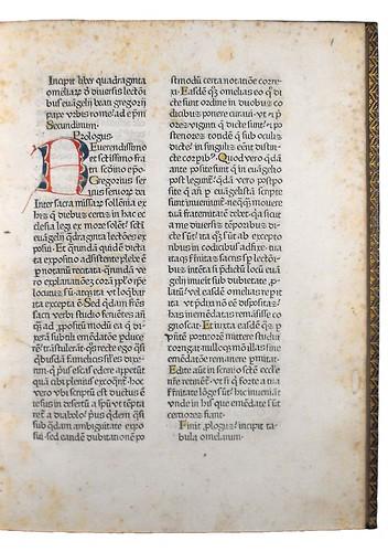 Decorated initial in Gregorius I, Pont. Max.: Homiliae super Evangeliis