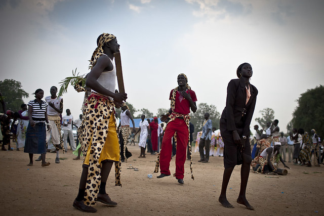Dinka dancing by Conor Ashleigh