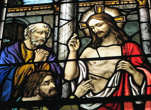 Doubting Thomas With Jesus - Detail - Redeemer Lutheran Church