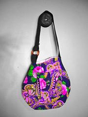 pink ballywood vase shaped handbag (fusskerfuffle) Tags: handmade retro etsy recycle handbag purses ecofriendly upcycle upholsteryfabric fusskerfuffle