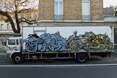 Horf / Mosa (lepublicnme) Tags: streetart paris france truck graffiti september mosa pal 2011 horf horfe horph palcrew