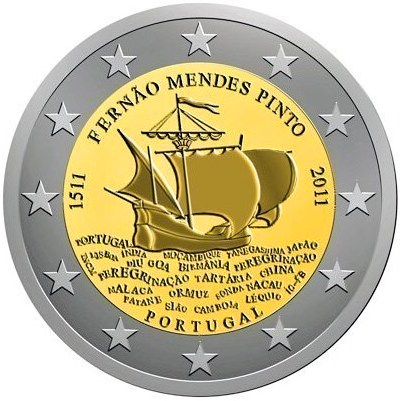 2 Euro Portugalsko 2011, 500. výročie narodenia Fernãa Mendesa Pinta