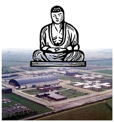 Buddha above Acklington Prison, Northumberland UK