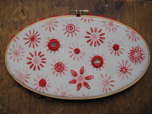 Embroidery sampler by Poppyprint