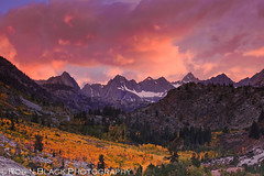 Fiery Autumn Sunset over the Evolution Range (Eastern Sierra Nevada) (Robin Black Photography) Tags: california pink autumn sunset clouds colorful fallcolor cloudy ngc dramatic stormy scene explore granite vista aspens snowfield sierras peaks sierranevada drama crags bishop cloudporn goldenhour naturesbest fiery highsierra nationalgeographic mountainrange aspentrees northlake easternsierra mybestshot lakesabrina explored incrediblesunset rangeoflight outdoorphotographer bishopcanyon totallyawesomepics canon5dmarkii robinblackphotography