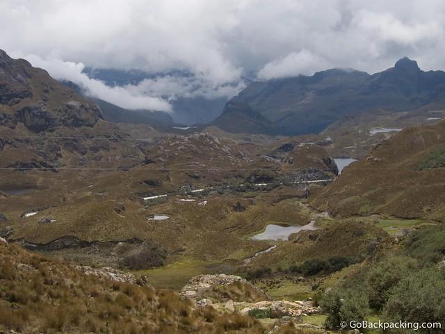 El Cajas National Park in southern Ecuador