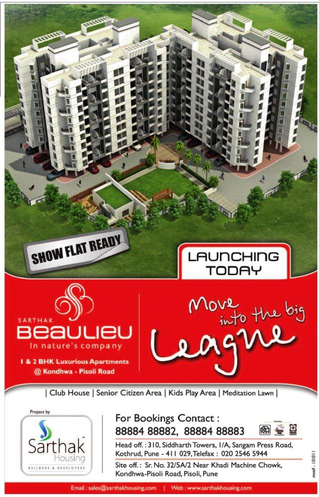 Sarthak Beaulieu, 1 BHK & 2 BHK Flats, near Khadi Machine Chowk, Kondhwa Pisoli Road, Pisoli Pune