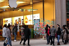 Stop & See (ssblackprints) Tags: apple stevejob phillyapple centercityapplestore tributetostevejob