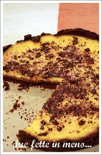 Crostata con arance e cioccolato