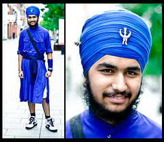 Gurjit (85/100) (drmaccon) Tags: blue beard photography cool nikon leicester streetphotography streetportrait stranger streetphoto 100 turban individual highcross granbystreet strangerportrait streetportraiture nikon50mm gurjit 100strangers d5100 nikond5100 drmaccon markmcconnochie