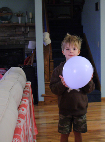 hank with balloon