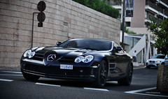 SLR (Willem Rodenburg) Tags: boss red 3 slr photoshop 50mm mercedes benz evening gangster nikon 33 picasa bob montecarlo monaco mclaren mercedesbenz brakes mm 50 coupe supercar v8 willem lightroom d90 blackonblack cs5 hypercar rodenburg