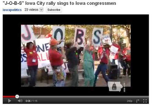 JOBS sung to Iowa Congressmen