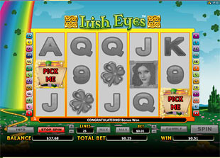 free Irish Eyes  slot bonus