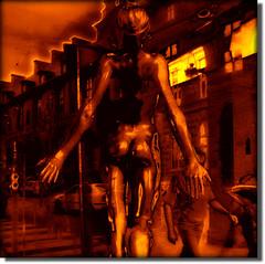 The Birth of the Urban Venus !! (Pifou 2010) Tags: street light sculpture paris france reflection art colors town gallery magasin couleurs lumiere boutique storewindow rues reflets ville vitrines 2011 tmoa vividimagination shockofthenew crazygeniuses gerardbeaulieu pifou2010 storesdisplays art2011 netartii thebirthoftheurbanvenus