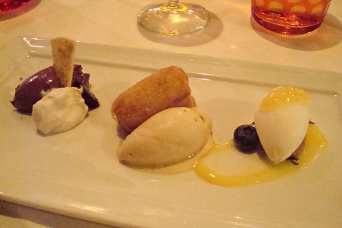 Trio of Desserts at Drago Santa Monica