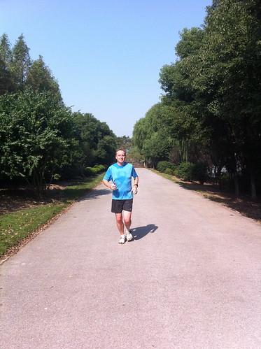 Marc running along the Mao river
