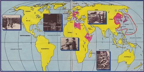 Mapa II Guerra Mundial
