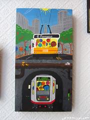 muni6 (Big Pilpn') Tags: show sanfrancisco california blackandwhite color art andy illustration painting gallery drawing cartoon muni mission opening wix fabric8 stattmiller