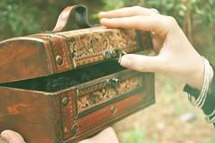 What is inside? (Mrzam Slsetur) Tags: secret magic question mano inside answer mistery cofre baul