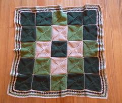 Double Diamond Baby Blanket (Lyvvie) Tags: baby crochet babyblanket doublediamond crochetblanket diamondpattern crochetsquares quickcrochet crochetborder easycrochet