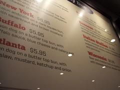 Bison Jack's menu