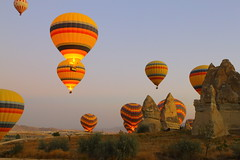 2011-20-05 Cappadocia Turkey - Terrific ballooning over the region at dawn. What a view! (Travel With Olga) Tags: turkey hotairballoon agriculture troglodyte tcs cappadocia cavehotel goreme cavedwellings starquest privatejet kaymakli cavechurches legendarycultures
