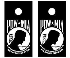 POW MIA Cornhole Boards
