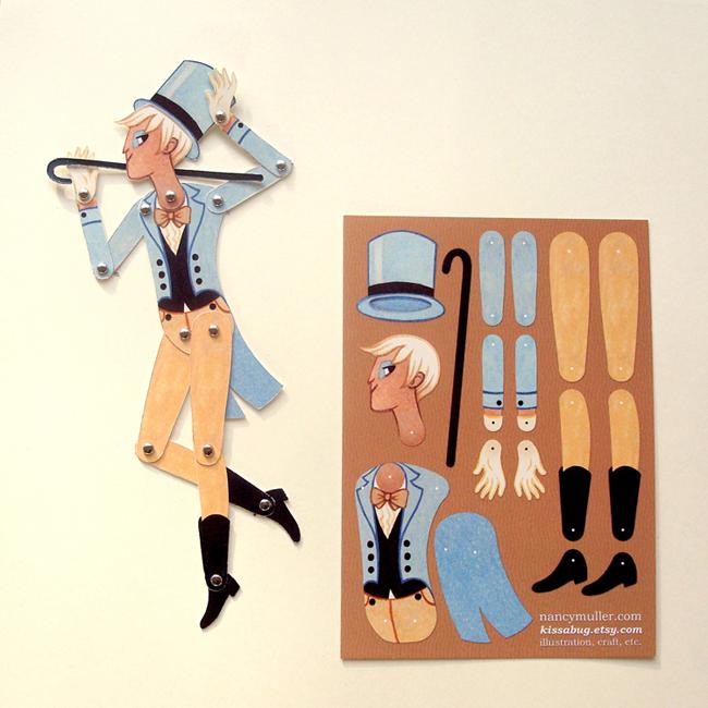 Circus Folk Paper Doll