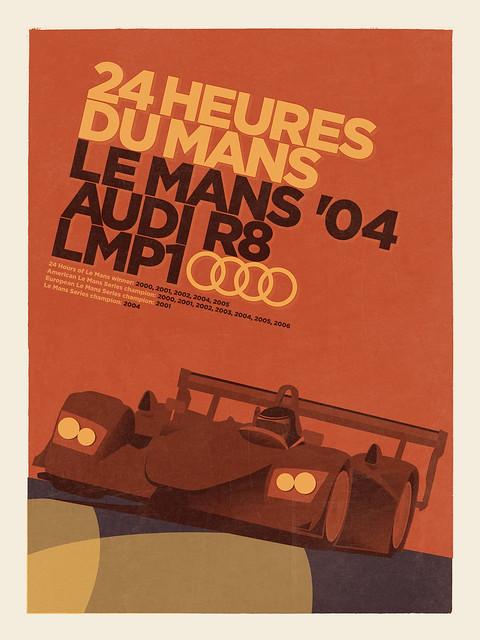 Art Deco Audi LMP1 Le Mans Poster