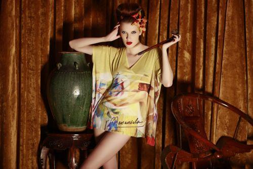 tunic kimono top with sublimination print B P1595