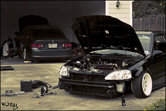 Garage Hangs (KMay Photography) Tags: honda bc civic acura tsx skunk2