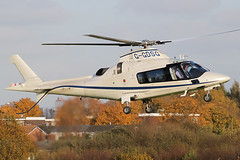 G-GDSG - 2005 build Agusta A109E Power, visiting Barton for fuel