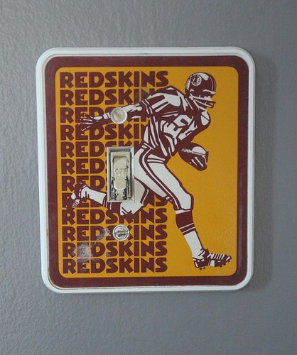 vintage redskins switch plate