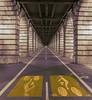 Aller Retour (StephanieB.) Tags: bridge light white paris lines night perspective bercy bicyclette nuit blanc vélo lignes piste perspectiv stonepierre sonya550 stonepierrepont