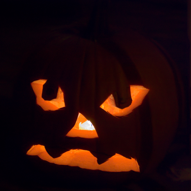 Jack o lantern - carved pumpkin