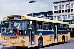 MS 4 Stevenage Bus Station 9 June 1973 (national_bus_510) Tags: nbc stevenage mcw superbus nationalbuscompany londoncountry metrocammellweymann msclass metroscania lcbs