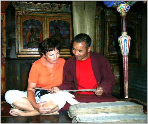 Monk reading holy texts to me .... me repeating the Tibetan words by Ginas Pics