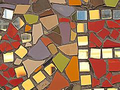 Mosaic in the Bo-Kaap (Sallyrango) Tags: africa urban southafrica mosaic capetown bokaap paintedhouses brighthouses